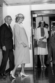 July 24, 1984: Princess Diana during the opening of the Harris Birthright Research Unit for Fetal Medicine at King's College Hospital, London.