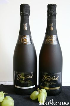 """Cordon Negro Brut is Freixenet's most popular cava, """"Black Bottle Bubbly."""" It is the #1 imported sparkling wine in the world.  Winery is located in the heart of the Penedés region in Sant Sadurní d'Anoia about 45 km from Barcelona. El cava, a Spanish sparkling wine most of which is produced in Catalonia. Only wines produced in the champenoise traditional method may be labelled cavas, those produced by other processes may only be called """"sparkling wines"""". Brie is good and Smoky Spiced…"""