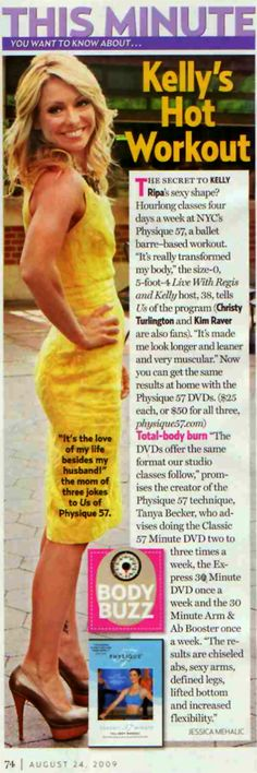 Kelly Ripa stays in shape with Physique 57