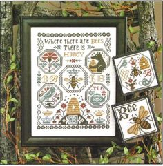 WHERE-THERE-ARE-BEES-NO-193-Cross-Stitch-Pattern-Prairie-Schooler