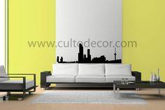 Roterdão - Skyline em vinil de corte com 18 cores diferentes e 2 acabamentos (brilhante/mate). Saiba tudo em http://www.cultodecor.com