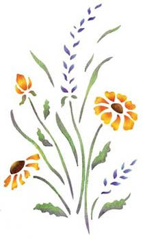 Quickly and easily create a beautiful floral design in your home with our Wildflowers Painting Stencil!