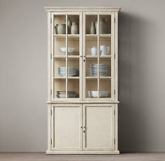 Hampton Casement Double Sideboard and Hutch Kitchen Pantry (RH)