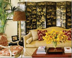 Chinoiserie Chic: Alessandra Branca & Red Lampshades
