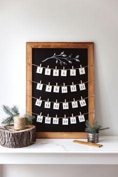 Fabriquez un calendrier de l'avent tout simple #calendrierdelavent #DIY #noel #noelbricolage