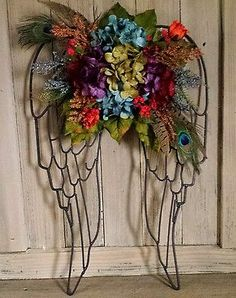Floral Flower Arrangement Multi Color Mixed Material Angel Wings