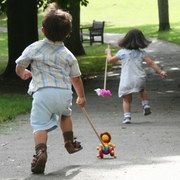 Traditional Wooden Push Along Toys - a must have for every little one.