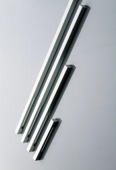 Linie, Corian handles by Amos design _ Door Design Interior, Main Door Design, Front Door Colors, Front Door Decor, Diy Barn Door Hardware, Cabinet Hardware, Door Pull Handles, Door Pulls, Paint Door Knobs