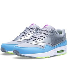 Nike Air Max 1 FB (Metallic Silver & Current Blue)