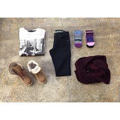 #OOTD chandail et foulard @plentyhumanwear / pantalon @volcomwomens / bas @stancesocks / bottes @roxy