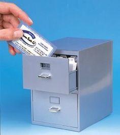 Mini Desktop Card Filing Cabinet   Apartment Therapy