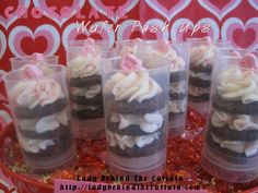 Chocolate Wafer Push Ups.... fun for parties or special treats from ladybehindthecurtain.com
