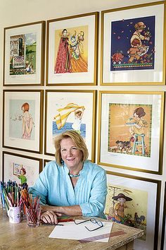 Mary Engelbreit herself!!!  Thanks Mary for all the joy you bring with your art.
