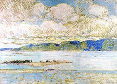 The Athenaeum - Frenchman's Bay, Mount Desert (Frederick Childe Hassam - )