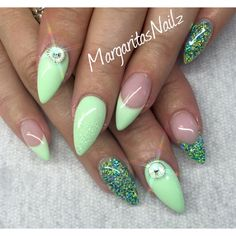 Pastel Green by MargaritasNailz from Nail Art Gallery