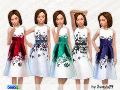 S77 girl 09 long dresses for girls by Sonata77 at TSR via Sims 4 Updates