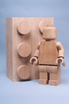 LEGO wood sculpture