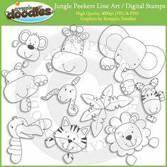 line zoo/safari characters