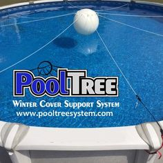 PoolTree System Above Ground Pool Winter Cover Closing Kit Pool Pillow Above Ground Pool Pumps, Above Ground Pool Cover, In Ground Pools, Swimming Pool Designs, Swimming Pools, Piscina Pallet, Mesh Pool Covers, Pool Pillow, Pools