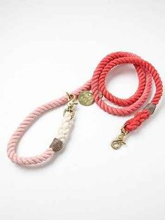 This ombre rope leash.