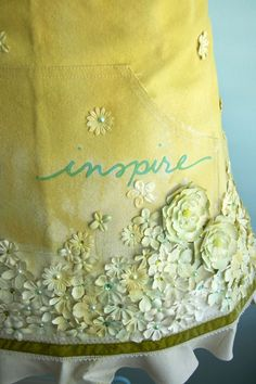 """""""inspire"""" apron.  it's so pretty - i'd be afraid to wear it while actually working on anything!"""