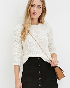 A popcorn knit sweater for $10.99. | 41 Inexpensive Sweaters You'll Want To Cozy Up With