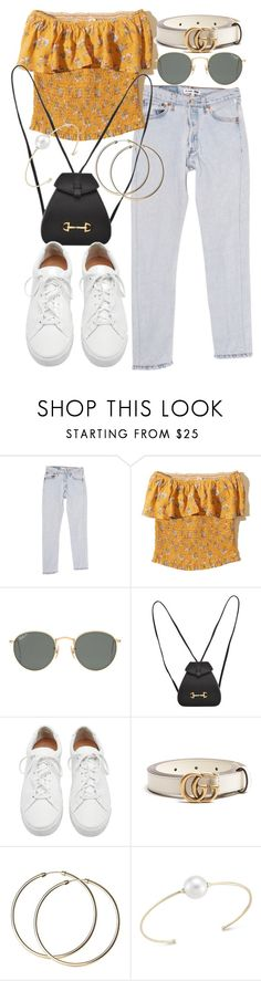 """Untitled #21518"" by florencia95 ❤ liked on Polyvore featuring RE/DONE, Hollister Co., Ray-Ban, Gucci, Loeffler Randall and mizuki"
