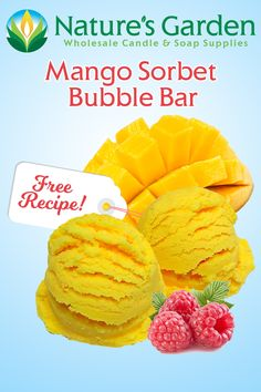 Free Mango Sorbet Bubble Bar Recipe by Natures Garden