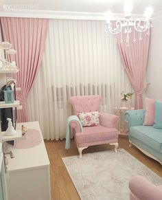 Achieve a lovely and luxurious pink theme bedroom for kids with Circu Magical furniture: CIRCU. Living Room Sofa, Living Room Decor, Bedroom Decor, Pastel Room Decor, Pink Room, Home Decor Furniture, Modern Furniture, Living Room Designs, Decoration