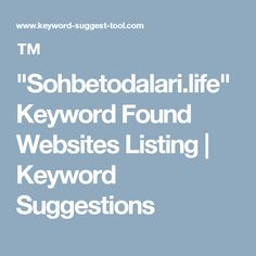 "™ ""Sohbetodalari.life"" Keyword Found Websites  Listing 