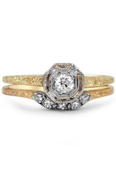 Antique diamond rings set