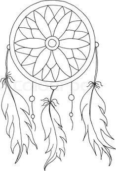 16444112-hand-to-draw-a-dreamcatcher.jpg (546×800)