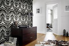 Wild Black & White Zebra Wallpaper from eurowalls
