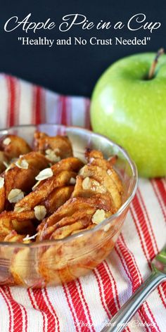 Apple Pie In a Cup - It tastes just like apple pie! Recipes Food and Cooking
