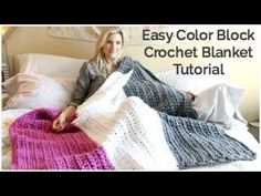 A Big, Comfy Color-Block Crochet Blanket Is A Great Project For Beginners! - Starting Chain