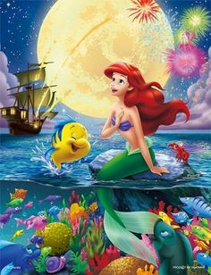 Ariel 〖 Disney The Little Mermaid Ariel Flounder Sebastian fireworks 〗 Ariel Disney, Disney Pixar, Walt Disney, Disney Little Mermaids, Cute Disney, Disney Cartoons, Disney Magic, Disney Art, Disney Movies