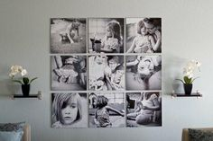 25 Cool Ideas To Display Family Photos On Your wall Art Mural Amour, Collage Foto, Photowall Ideas, Decoration Photo, Display Family Photos, Family Pics, Family Wall, Family Collage, Family Canvas