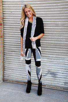 The British are coming the British are coming! Leggings $24.50, top $26.50, necklace $22.50, scarf $18.50, booties $48.50