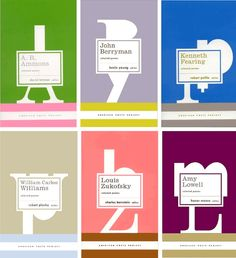 Poetry book designs from Chronicle Books.