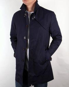 Pretty Green Mayfair Trench Coat Navy,Mac,jacket,parka,mens