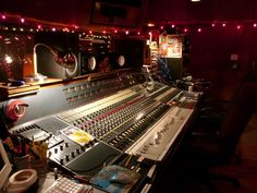 Neve board (Sound City Studios) ..sometimes it's ok to switch it up and mix on an Neve board. SSL MATE , tho