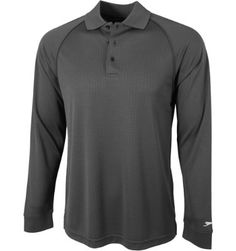 Slazenger Men's Tomey Grid Long Sleeve Polo