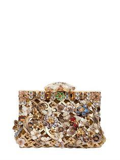 Dolce & Gabbana Small Vanda Embroidered Velvet Clutch on shopstyle.co.uk