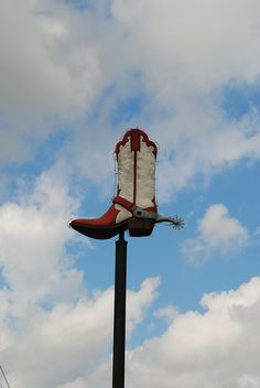 the big boot in the sky (where cowboy boots go to meet their maker)