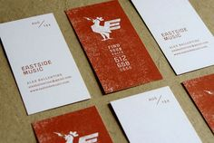14 Eastside Music 24 Creative Examples of New Business Card Designs