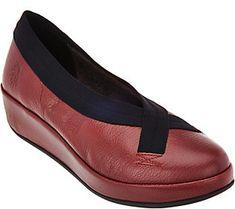 FLY London Leather Slip-on Shoes - Bobi