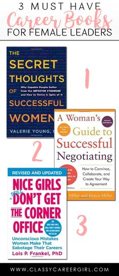 3 Must Have Career Books For Female Leaders  Are you ready for my all-time favorite career books! These books played a pivotal role in my career when I just started out. I wanted to pass along these books to other professional women so I am hosting a giveaway on Instagram at @classycareergirl this week. Make sure you check it out (details on the bottom of this post).  Read More: http://www.classycareergirl.com/2016/07/book-giveaways/