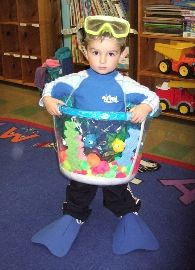 Fishbowl costume - one fish, two fish, red fish, blue fish