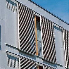 Persiane scorrevoli / in legno / per porte / elettriche - NURSING HOME, HETTSTEDT - Schindler
