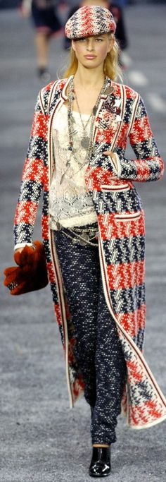 Chanel ~ Red+White+Blue Full length coast, Fall 2004